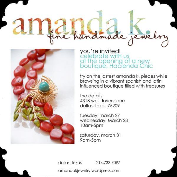amanda k. jewelry trunk show invite